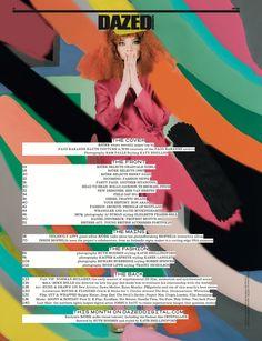 Bjork - Dazed & Confused - 2011. Photos & Artwork: Sam Falls