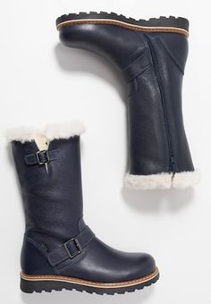 Stiefel - blue Boots, Winter, Blue, Fashion, Dark Brown, Get Tan, Leather, Crotch Boots, Winter Time