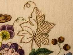Detail of Crewel Embroidery