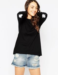 ASOS Jumper With Halloween Ghost Elbow Patch