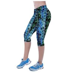 Womens Fitness Leggings Marque Fille Printed