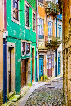 Streets in Porto, Portugal.