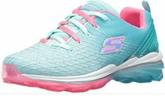 ecb50450386 Skechers Toddler Girls  Aqua and pink memory foam glitter bottom bouncy  sneakers size 11
