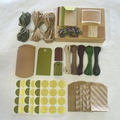 Green gift wrap kit from Etsy