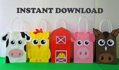 Birthday games farm 45 ideas for 2019 Farm Animal Party, Farm Animal Birthday, Farm Birthday, Birthday Games, 2nd Birthday Parties, Diy Birthday, Farm Party Favors, Barnyard Party, Party Favor Bags