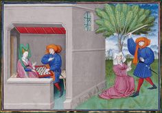 File:Dekameron 1432 game in chess. Medieval World, Medieval Art, Fun Games, Games To Play, Arsenal, Medieval Games, Bnf, Illuminated Letters, 15th Century