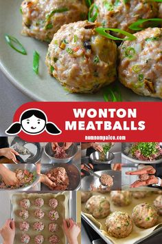 These flavor-packed Paleo and Wonton Meatballs remind me of my mom's wontons, and my family loves them, too—including even my pickiest son! (ground pork, shrimp) --MUST MAKE-- Nom Nom Paleo, Paleo Whole 30, Whole 30 Recipes, Paleo Recipes, Asian Recipes, Paleo Meals, Diabetic Meals, Chinese Recipes, Kitchen Recipes
