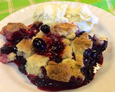 Over at Julie's: Blueberry Drop Biscuit Cobbler . . . My perfect breakfast choice!