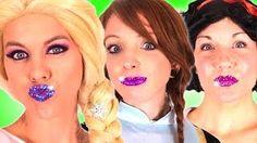 Frozen Elsa & Anna GLITTER LIPS! w/ Spiderman Joker Oreo Challenge Snow White Spidergirl Real Fun - YouTube Frozen Elsa And Anna, Elsa Anna, Architectes Zaha Hadid, Glitter Lips, Snow White, Avril, Oreo, Spiderman, Youtube