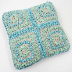 FREE CROCHET PATTERN Popcorn Cushion Cover Free Crochet Pattern on my blog thecuriocraftsroom.blogspot.com