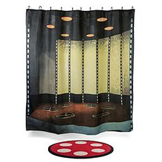 ThinkGeek :: Star Trek Transporter Room Bath Mat & Shower Curtain Set