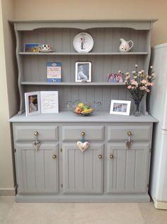 I have been lusting after a Welsh dresser forever! Bah! Annie Sloan Painted Welsh Dresser