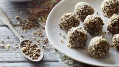 Pete Evans' raw carrot cake bliss balls. Photos: Mark Roper. Styling:: Deb Kaloper.  ❤️ http://guide2successinlife.com/ @isabellamanetti ❤️
