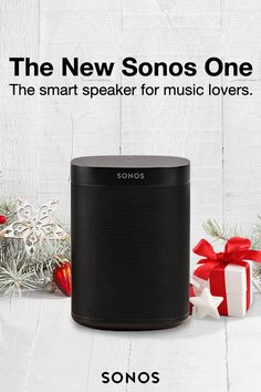Sonos One is showing up on everyone's shopping list this year. Enjoy surprisingly rich, room-filling sound from a smart speaker with future-ready voice control.