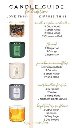 Essential Oil Candles, Essential Oil Diffuser Blends, Doterra Essential Oils, Velas Diy, Essential Oil Combinations, Diy Beauté, Diffuser Recipes, Aromatherapy Oils, Back To Nature
