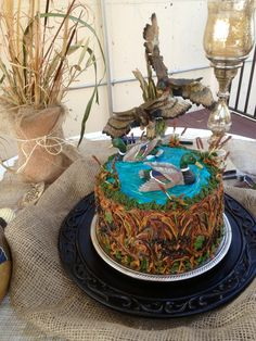 Duck Hunting Groom's Cake ~ Kay's Custom Cake Designs