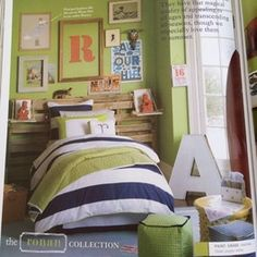 green/blue boy's bedroom with empty picture frame ideas Boys Bedroom Decor, Bedroom Green, Green Rooms, Trendy Bedroom, Bedroom Ideas, Bedroom Inspiration, Dream Bedroom, Design Bedroom, Bedroom Furniture