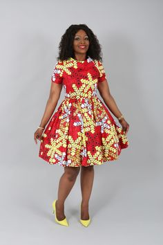 African  clothing : NEW CHARRY dress handmade from authentic super wax print.african prints,ankara fabric,dresses by Nasbstitches on Etsy https://www.etsy.com/listing/398045813/african-clothing-new-charry-dress