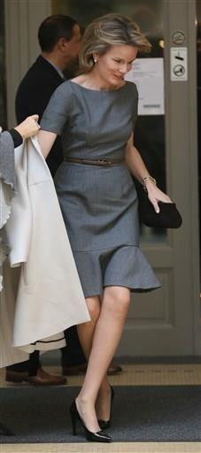 Belgian Queen Mathilde Oct. 15, 2013