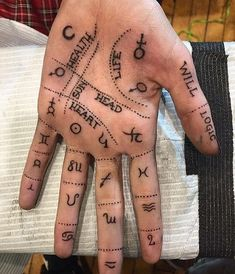 – Paganism, Wicca & other mysteries … Palm reading shown on a real hand! – Paganism, Wicca & other mysteries ☾ – reading Witch Tattoo, I Tattoo, Tattoo Moon, Reader Tattoo, Tatouage Sublime, Wicca Witchcraft, Wiccan Witch, Witchcraft Tattoos, Wiccan Tattoos