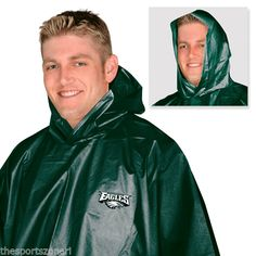 Philadelphia Eagles Adult Size Rain Poncho Visit our website for more: www.thesportszoneri.com