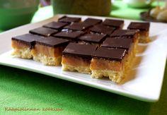 Kääpiölinnan köökissä: Makeaa mahan täydeltä - suklaa-kinuskiruutuja ja c...