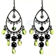 Green Zoee Earrings - Lightweight, easy to wear, and suitable for a variety of occasions. http://simplybeautiful2012.com/jce-20045.html#