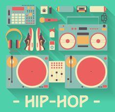 Hip Hop Flat Illustration