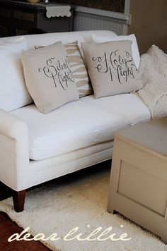 DIY Sharpie Pillows for christmas Decor