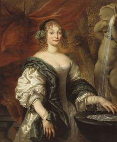 File:Portret van een jonge dame bij een fontein - attr. to de Baen.jpg