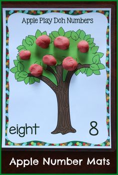 Apple themed Play Doh mats and many other apple themed activities perfect for centers!