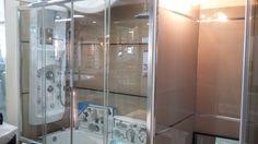 Mampara 4 hojas 150 x 150 cm. vidrio templado 6 mm perfiles aluminio anodizado…