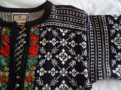Dale of Norway vintage nordic wool cardigan sweater embroidered trim filigree buttons Made in Norway. $50.00, via Etsy.
