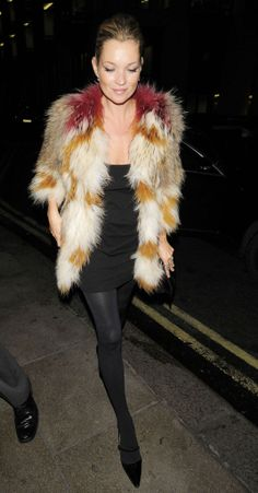 Kate Moss + Isabel Marant Fur Coat