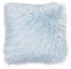 THRO by Marlo Lorenz Keller Faux-Fur Throw Pillow – blue accent pillow Fur Pillow, Fur Throw Pillows, Fluffy Pillows, Faux Fur Throw, Decorative Throw Pillows, Couch Pillows, Light Blue Throw Pillows, Blue Pillows, Accent Pillows