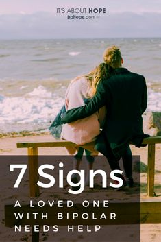 Here are seven signs of illness shared by most of us with bipolar disorder that you can look for in order to help a loved one. Symptoms Of Bipolar Depression, Ways To Fight Depression, Depression Help, Bipolar Awareness, Mental Health Awareness, Living With Bipolar Disorder, Signs Of Anxiety, Anxiety Facts