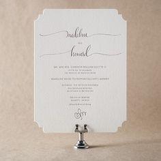 Ouette Wedding Invitation Design
