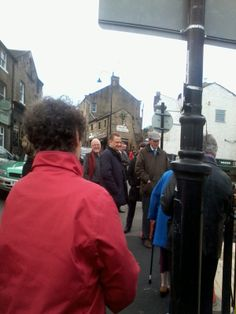 the opening of the King's Head garden, Holmfirth. Mural by Friend to Friend Holmfirth, funded by HLF. Jason McCartney, Nigel Patrick, Jim Robison