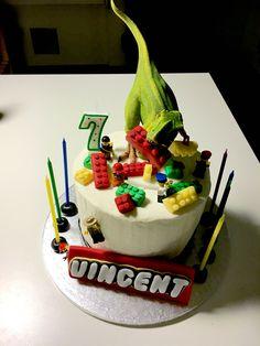 Lego/Jurassic cake  Vinnie's 7th bday
