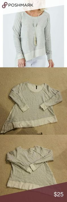 """Asymmetrical Gray Sweatshirt from Evereve By """"Elan"""" size L but fits like a M. Worn approx. 3x Evereve Tops Sweatshirts & Hoodies"""