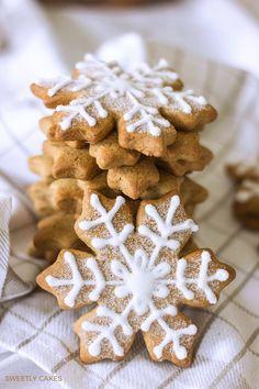 Biscuits aux épices flocons de neige