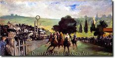 Manet   Races at Longchamp - Direct Art Australia,  Price: $199.00,  Availability: Delivery 10 - 14 days,  Shipping: Free Shipping,  Minimum Size: 50 x 60 cm,  Maximum Size : 100 x 150 cm,  Professional Artists - Museum Quality Paintings - No prints or computer generated techniques.  www.directartaustralia.com.au/