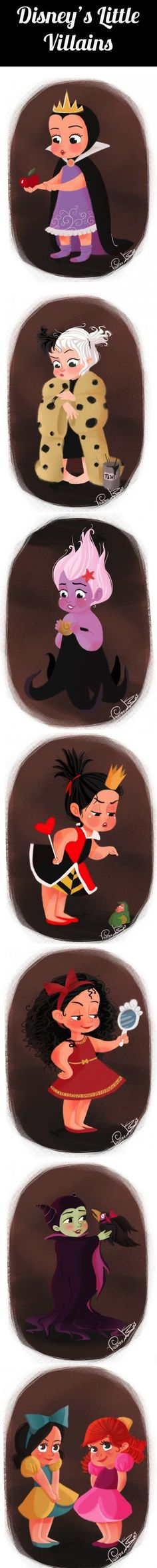 Seven Disney Villains as Cute Little Kids…So cute it is hard to believe they grow up so bad.