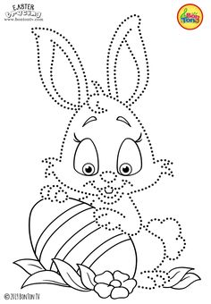 Easter Tracing and Coloring Pages for Kids - Free Preschool Printables and Worksheets, Fine Motor Skills Practice - Easter bunny, eggs, chicks and more on BonTon TV - Coloring books Easter Coloring Pages, Coloring Sheets For Kids, Cute Coloring Pages, Coloring Books, Pvc Pipe Crafts, Embroidery Cards, Easter Printables, Preschool Printables, Paper Dolls Printable