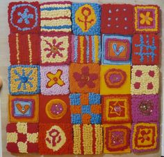 lizzie reakes Textiles Techniques, Aqa, Rag Rugs, Gcse Art, Textile Artists, Rug Hooking, Textile Design, Light In The Dark, Applique