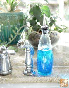Kitchen Sink Tip: Use an olive oil dispenser to hold dishwashing liquid!