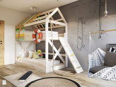 Bielsko - Biała - Średni pokój dziecka dla chłopca dla rodzeństwa dla malucha - zdjęcie od razoo-architekci