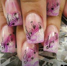More music nail design!