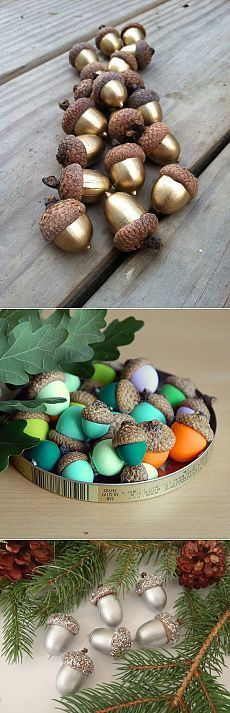 Ideas Painting Cute Projects For 2019 Autumn Crafts, Nature Crafts, Holiday Crafts, Acorn Crafts, Pine Cone Crafts, Handmade Christmas Decorations, Xmas Decorations, Decoration Crafts, Christmas And New Year