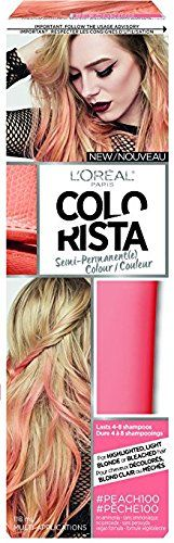 L'Oreal Colorista Semi-Permanent for Light Blonde or Bleached Hair, 100 Peach (Pack of 2) * This is an Amazon Affiliate link. Check this awesome product by going to the link at the image.